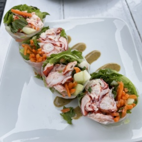 Gluten-free lobster spring roll from The Boathouse