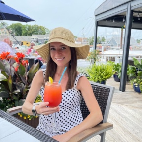 Jackie at The Boathouse in Kennebunkport