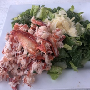 Gluten-free lobster salad on Caesar from Wolfetrap Grill & Rawbar