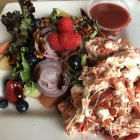 Gluten-free lobster salad on summer salad from Wolfetrap Grill & Rawbar