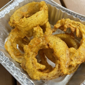 Gluten-free onion rings from Boss Chick N Beer