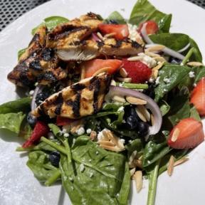Gluten-free berry salad from D4 Irish Pub & Cafe