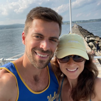 Jackie and Brendan at Rockland Breakwater Lighthouse