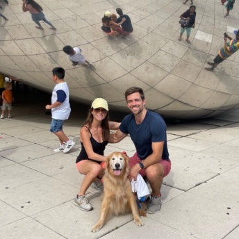 Jackie and Brendan at The Bean in Chicago