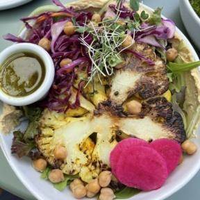 Gluten-free golden cauliflower bowl from BRIM