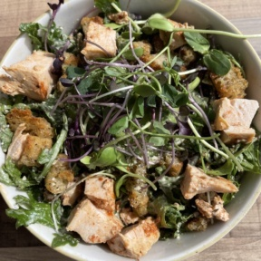 Gluten-free kale Caesar salad from Cultivate Cafe