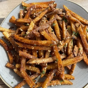 Gluten-free truffle parmesan fries from Cultivate Cafe