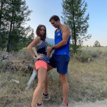 Jackie and Brendan hiking in the Grand Tetons