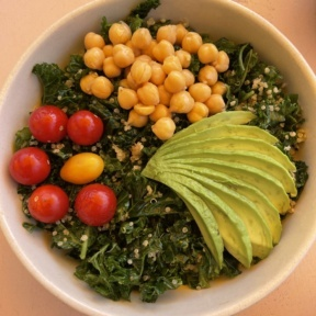 Gluten-free kale quinoa salad from Glow Sun Valley