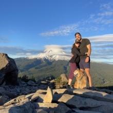 Jackie and Brendan on Mount Hood