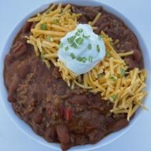Gluten-free chili with ground beef