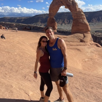 Jackie and Brendan at Arches National Park